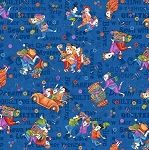 Shop Hop 8670 77 Blue Traveling Quilters, Bonnie Krebs by Henry Glass