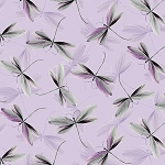 Dragonfly Dream 8732 06 Lilac, Kanvas by Benartex