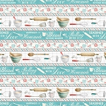 Homemade Happiness 89224 413 Teal Kitchen Repeating Stripe Wilmington