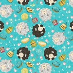 Splish Splash 8948 76 Aqua Sheep, Henry Glass