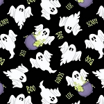 A Haunting We Will Go 9066 99 Ghosts Allover Glow in the Dark, Henry Glass