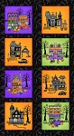 Spooky Town 9104P 98 Panel Blocks Metallic, Henry Glass