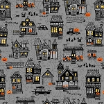 Spooky Town 9107 94 Grey Small Town Scenery Metallic, Henry Glass
