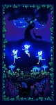 Summer Night Soiree Glow in the Dark 9207PG 59 Fairies Panel, Henry Glass