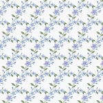 Garden Inspirations 9362 17 Blue Scalloped Flowers Henry Glass