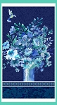 Mignight Sapphire 9390P 77 24 Inch Panel Vase Bouquet Henry Glass