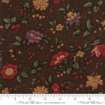 Natures Glory 9580 18 Brown Floral Reproduction, Kansas Troubles by Moda