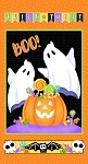 Glow Ghosts 9609G 39 GITD 24 Inch Ghost Pumpkin Panel Henry Glass