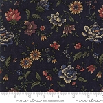 Through the Years 9620 14 Navy Floral Kansas Troubles Moda