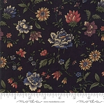 Through the Years 9620 19 Black Floral Kansas Troubles Moda