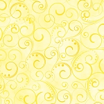 Swirling Splendor WIDE BACKING 9705 33B Light Yellow Benartex