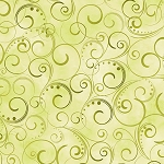 Swirling Splendor WIDE BACKING 9705 40B Moss Green Benartex