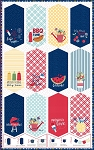 Red White and Bloom 9900 Z Pennant Panel Maywood Studio