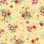 Red White and Bloom 9904 S Yellow Dot Flower Maywood Studio