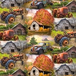 Barns Tractors AL33096C1 Digital Print David Textiles