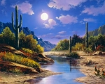Southwest Scenery AL39990C1 Digital 36 Inch Panel, David Textiles