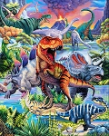 Dino World AL41700C1 Digital Panel David Textiles