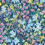 Alaskas National Parks Digital 3026 N Dark Blue Wild Flowers, Jon Van Zyle by P & B