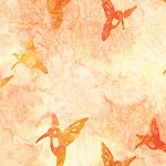 Hummingbird Lane 20182 144 Peach Artisan Batik Robert Kaufman