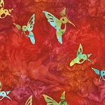 Hummingbird Lane 20182 367 Punch Artisan Batik Robert Kaufman