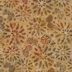 Natures Lodge Batik B4932 Walnut, Timeless Treasures