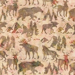 Natures Lodge Batik B7778 Horizon, Timeless Treasures