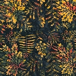 Natures Lodge Batik B7781 Midnight, Timeless Treasures