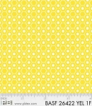 Basically Hugs Flannel 26422 Yellow Hexies, P and B Textiles