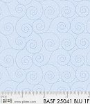 Basically Hugs Flannel 25041 Blue Scroll, P and B Textiles