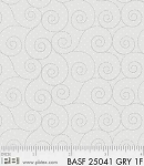 Basically Hugs Flannel 25041 Grey Scroll, P and B Textiles