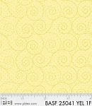 Basically Hugs Flannel 25041 Yellow Scroll, P and B Textiles