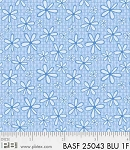 Basically Hugs Flannel 25043 Blue Daisy, P and B Textiles