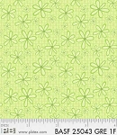 Basically Hugs Flannel 25043 Green Daisy, P and B Textiles