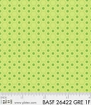 Basically Hugs Flannel 26422 Green Hexies, P and B Textiles