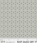 Basically Hugs Flannel 26422 Grey Hexies, P and B Textiles