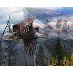 Free Like an Eagle Digital Panel, David Textiles