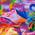 Bright Dragons C6317, Timeless Treasures