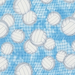 Volleyball C7042 Blue, Timeless Treasures