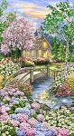 Peaceful Garden Church 24 Panel C8001, Timeless Treasures