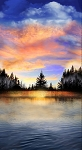 Sunset Lake 24 Panel C8040 Multi, Timeless Treasures