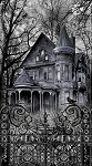 Wicked C8639 Haunted House Panel Timeless Treasures