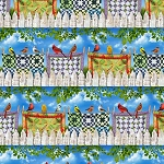 Birds Quilt Clothesline CD7702 Border Repeat, Timeless Treasures