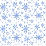 Keep Believing CE14 1 Icy Blue White Snowflakes Lewis and Irene