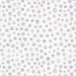 Snow is Falling Flannel CF7477 Cream Scattered Snowflakes, Timeless Treasures