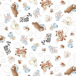Snow Days Flannel CF7551 Multi Animals, Bunnies by the Bay Timeless Treasures