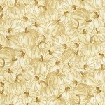 Country Harvest CM7696 Cream Pumpkins Metallic, Timeless Treasures