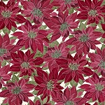 Noel CM7756 Red Poinsettias Metallic, Timeless Treasures