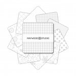 KimberBell Basics White Assortment Charm Pack, Maywood Studio