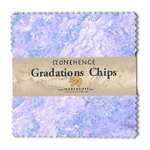 Stonehenge Gradations Chips Mystic Twilight Charm Pack, Northcott