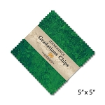 Stonehenge Gradations Chips Rainforest Charm Pack, Northcott